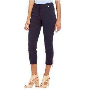 Ivanka Trump Ankle Length Side Zipper Navy Pants